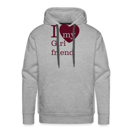 I Love my Girlfriend - Valentinstag - Männer Premium Hoodie
