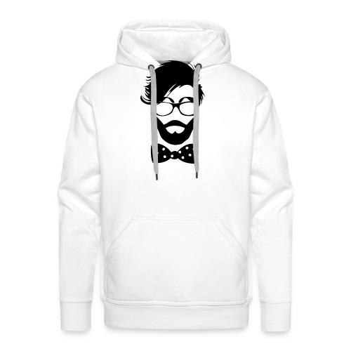 hipster_med_briller_og_butterfly - Herre Premium hættetrøje