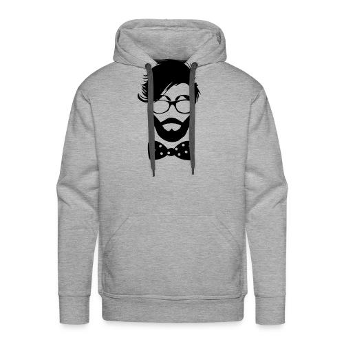 hipster_med_briller_og_butterfly - Men's Premium Hoodie