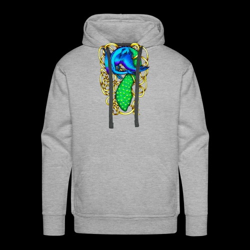 Peacock Dragon - Men's Premium Hoodie
