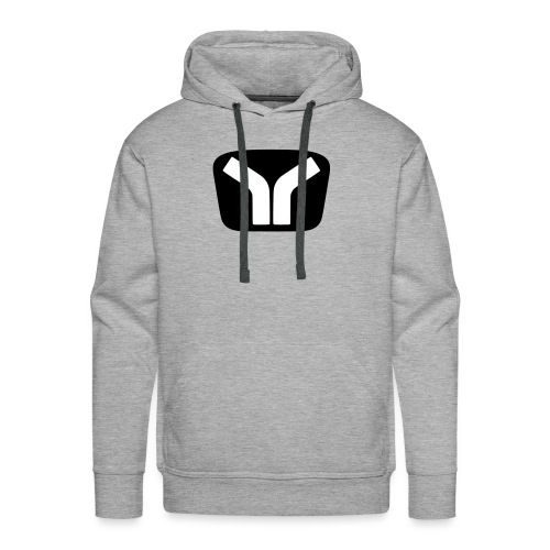 Yugo Logo Black-White Design - Men's Premium Hoodie