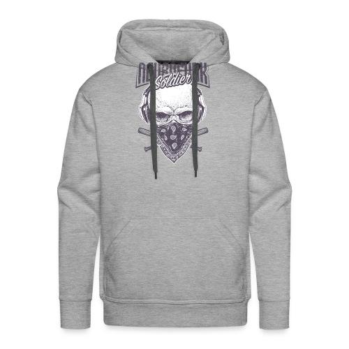 neurofunk soldier - Sweat-shirt à capuche Premium pour hommes