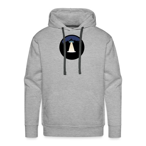 UFO beaming up a deer - Mannen Premium hoodie