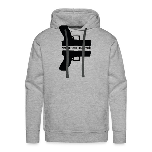 WorldMilitaryHD Glock design (black) - Mannen Premium hoodie