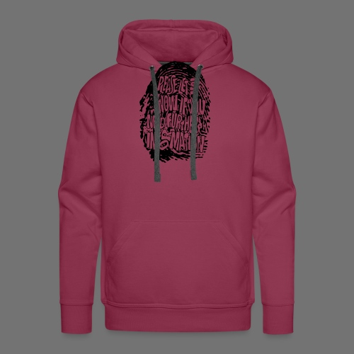 Fingerprint DNA (black) - Men's Premium Hoodie