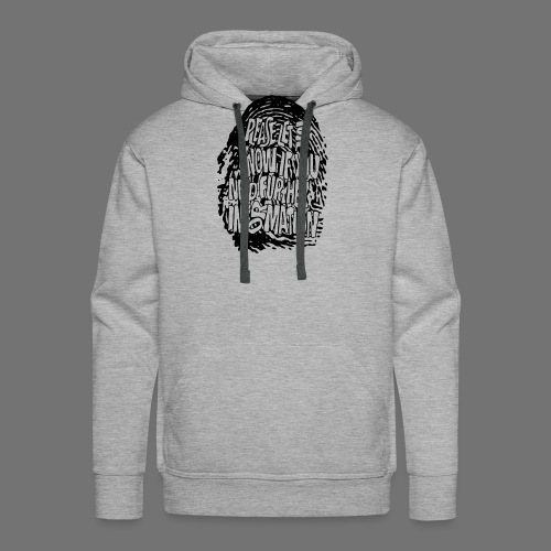 Fingerprint DNA (black) - Männer Premium Hoodie