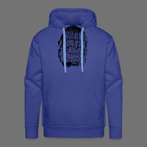 Fingerprint DNA (black) - Men's Premium Hoodie