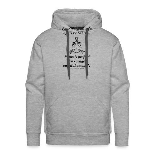Noel aux Bahamas Texte Noir - Sweat-shirt à capuche Premium pour hommes