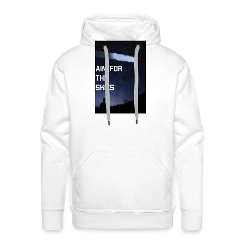 aim for the skies high resolution - Mannen Premium hoodie