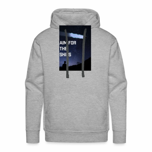 aim for the skies high resolution - Mannen Premium hoodie