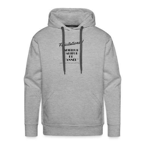 MEILLEUR PARIEUR DE L'ANNEE - Sweat-shirt à capuche Premium pour hommes
