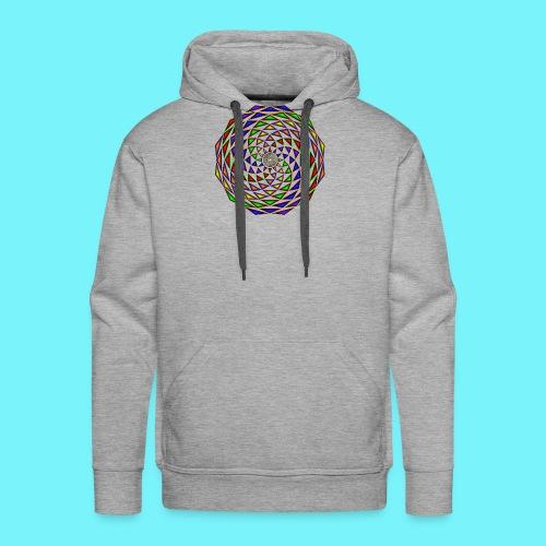 Mandala in rainbow colours - Men's Premium Hoodie