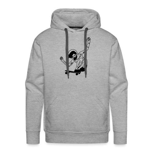 Gesu skater tutti i motivi - Felpa con cappuccio premium da uomo