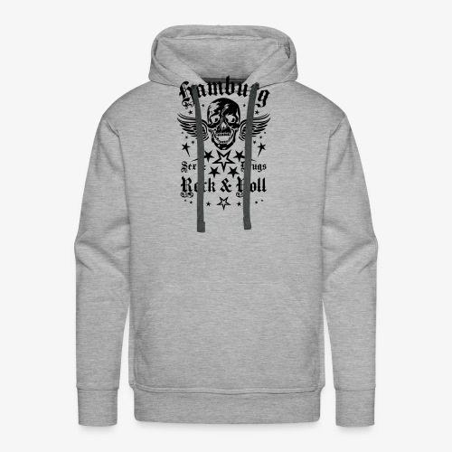 Hamburg Sex Drugs Rock & Roll Skull Wings - Männer Premium Hoodie
