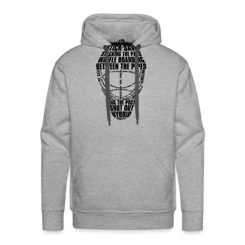 Ice Hockey Goalie Mask (black) - Men's Premium Hoodie