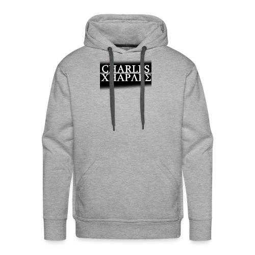 CHARLES CHARLES BLACK AND WHITE - Men's Premium Hoodie