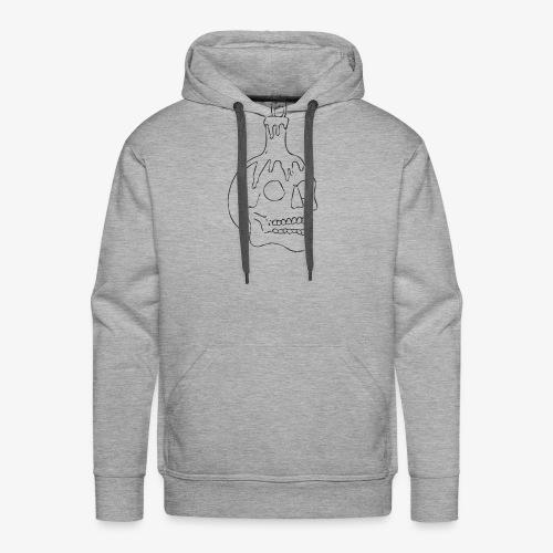 DEATH'S HEAD - Sweat-shirt à capuche Premium pour hommes