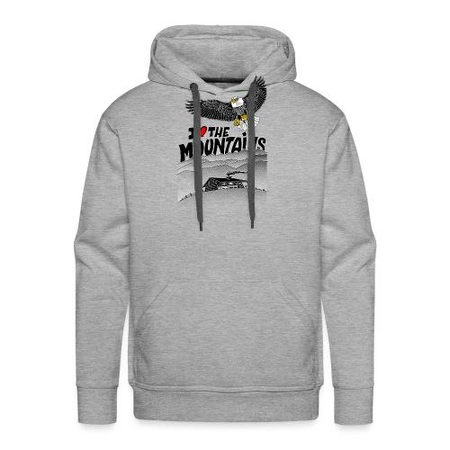 I love The Mountains Adelaar - Mannen Premium hoodie