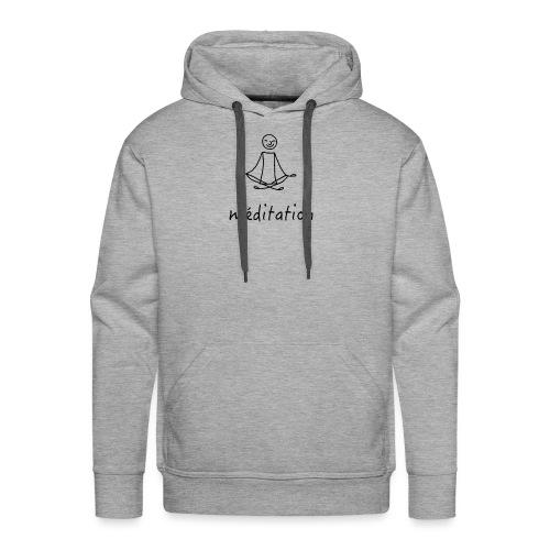 Méditation - Sweat-shirt à capuche Premium pour hommes