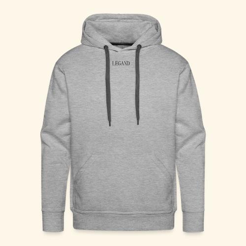 Simple Grey - Sudadera con capucha premium para hombre