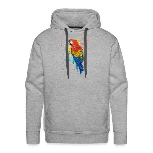 Parrot Watercolors Nadia Luongo - Felpa con cappuccio premium da uomo