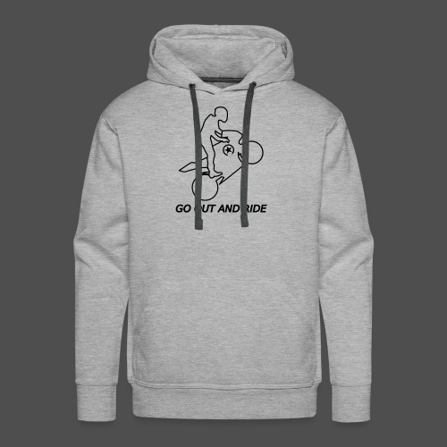 go out and ride superbike wheelie - Men's Premium Hoodie