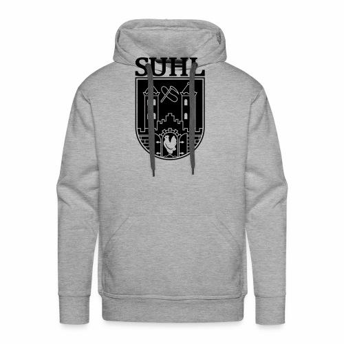 Suhl Coat of Arms (white) - Men's Premium Hoodie
