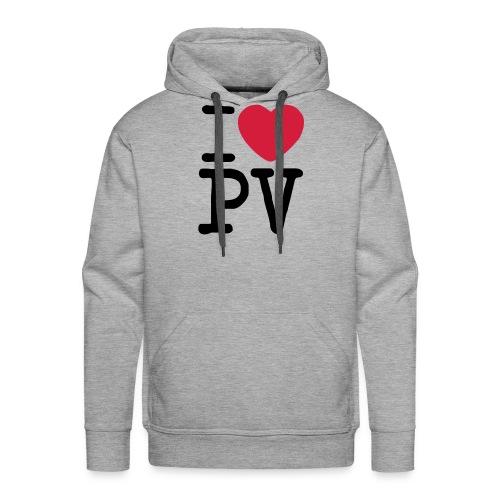 I Love PV - Sudadera con capucha premium para hombre