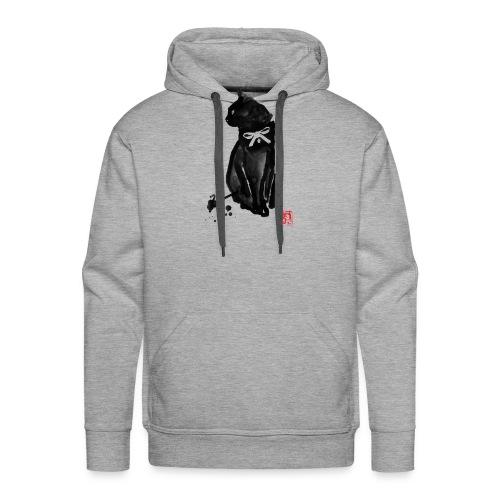 chat noeud - Sweat-shirt à capuche Premium pour hommes