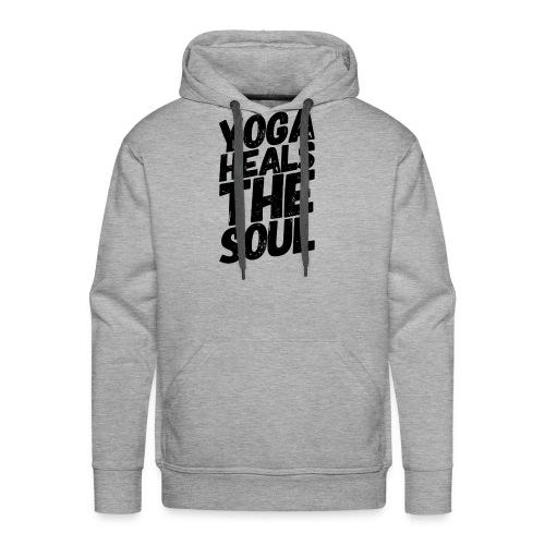 yoga heals the soul - Mannen Premium hoodie