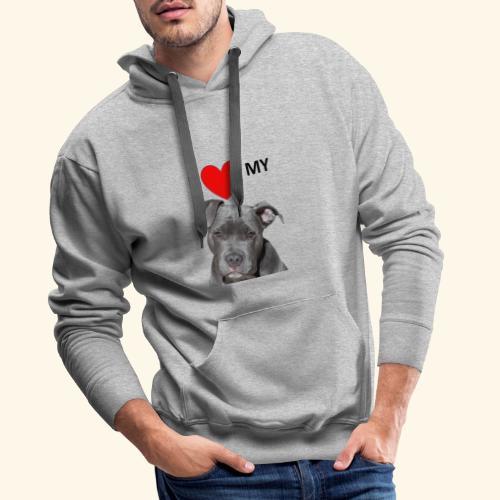 I love my Pitbull Hund Hunde Herrchen Frauchen - Männer Premium Hoodie