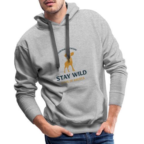 Stay Wild - Männer Premium Hoodie