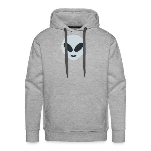 Alien Gray - Sudadera con capucha premium para hombre
