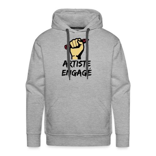 Artiste engagé - Sweat-shirt à capuche Premium pour hommes