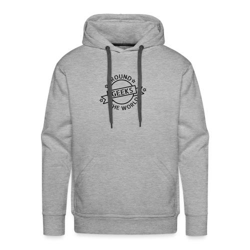 Geeks around the world - Sweat-shirt à capuche Premium pour hommes