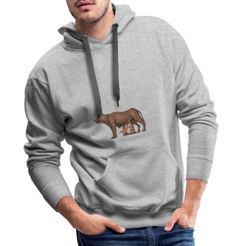 Wilczyca kapitolińska   Capitoline Wol - Bluza męska Premium z kapturem