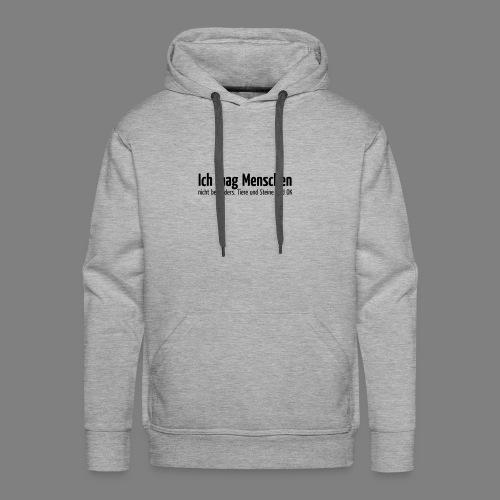 Ich mag Menschen - Männer Premium Hoodie