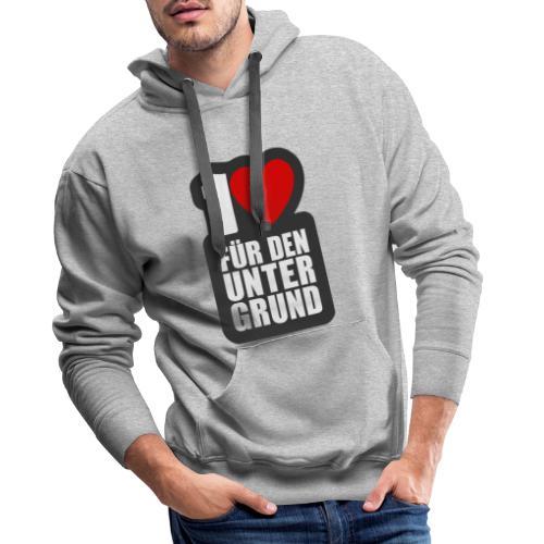 1 Herz für den Untergrund - Logo grau - Männer Premium Hoodie