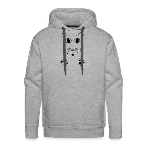 Katze Skizze - Männer Premium Hoodie