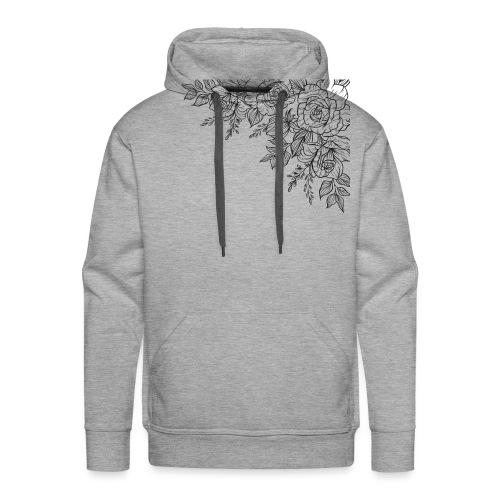 FLORES - Sudadera con capucha premium para hombre