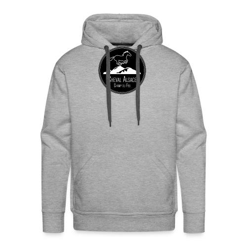 cheval alsace noir - Sweat-shirt à capuche Premium pour hommes