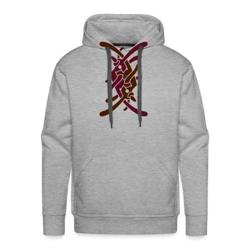 Stort logo på ryg - Herre Premium hættetrøje