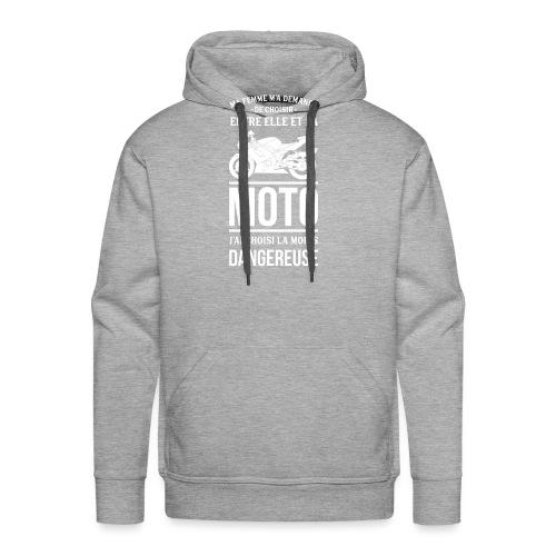 ET TOI QUE CHOISIS TU ? - Sweat-shirt à capuche Premium pour hommes