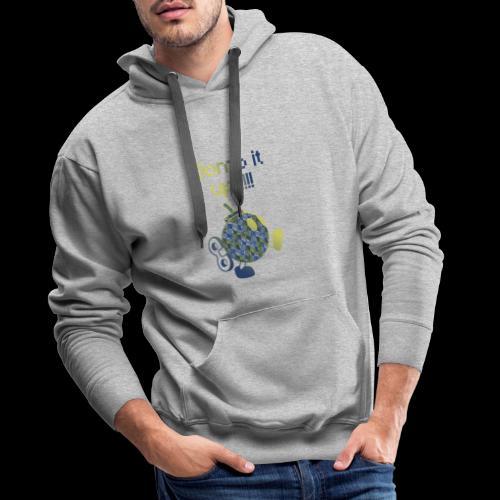 Bomb It Up : Blue Power !!! - Sweat-shirt à capuche Premium pour hommes