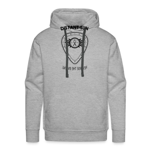Distant Sun - Mens Slim Fit Black Logo - Men's Premium Hoodie