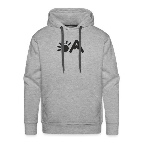 vekigo logo negro minimal - Sudadera con capucha premium para hombre