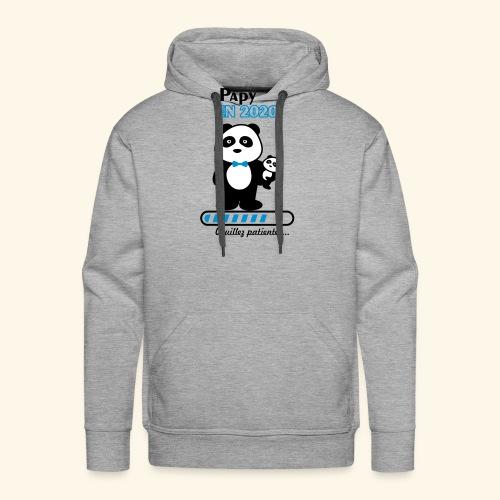 papy en 2020,Bientôt Papy,futur grand-père - Sweat-shirt à capuche Premium pour hommes