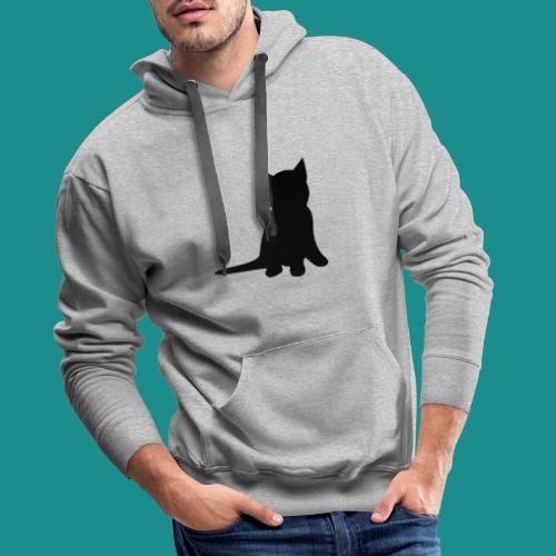 Cat silhouette clean design - Men's Premium Hoodie