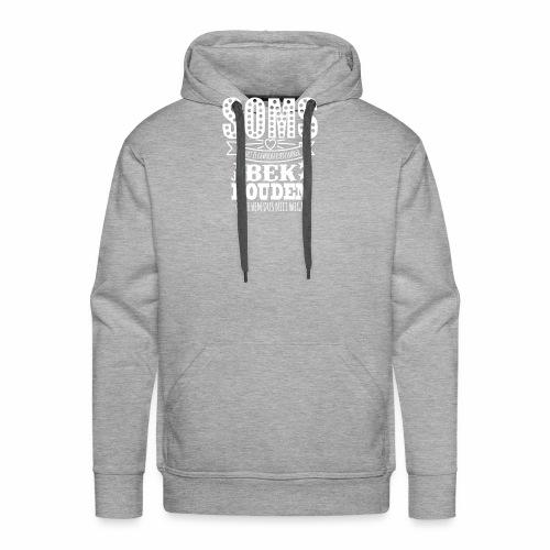 Bek houden wit - Mannen Premium hoodie
