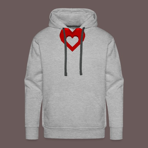 Heart Illusion - Herre Premium hættetrøje